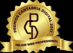 Distintivo ganador premios cantabria digital 2017 - mejor web profesional